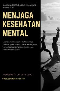 Olah Raga menjaga Kesehatan Mental