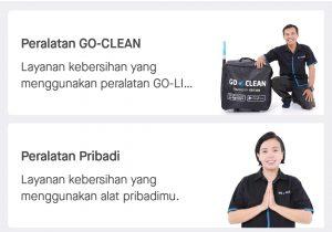 layanan GoClean Reguler atau Istimewa