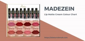 Madezein Lip Matte Cream_Colour chart