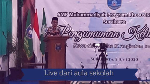 pengumuman kelulusan SMP_live dari sekolah