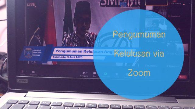 pengumuman kelulusan via zoom