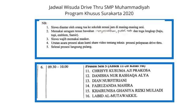 Wisuda drive thru_jadwal