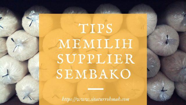 memlilih supplier sembako