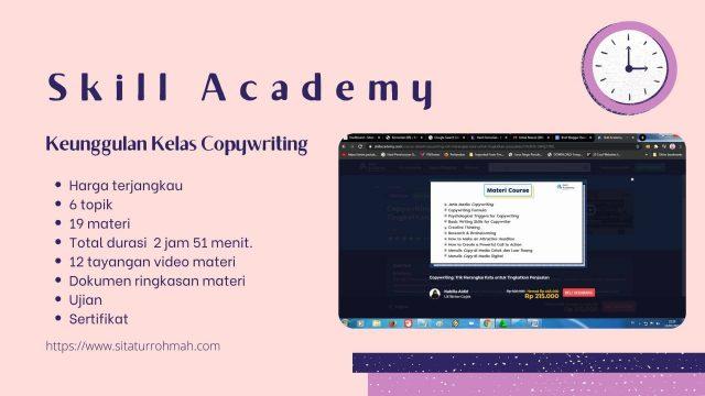 keunggulan kelas copywriting Skill Academy