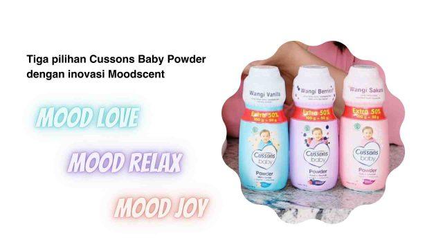 Cussons baby powder dengan inovasi moodscent
