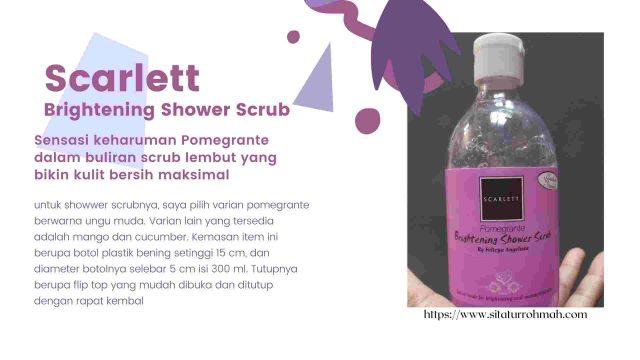 scarlett bodycare shower scrub