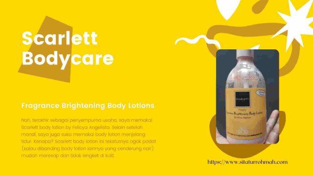 scarlett bodycare body lotion