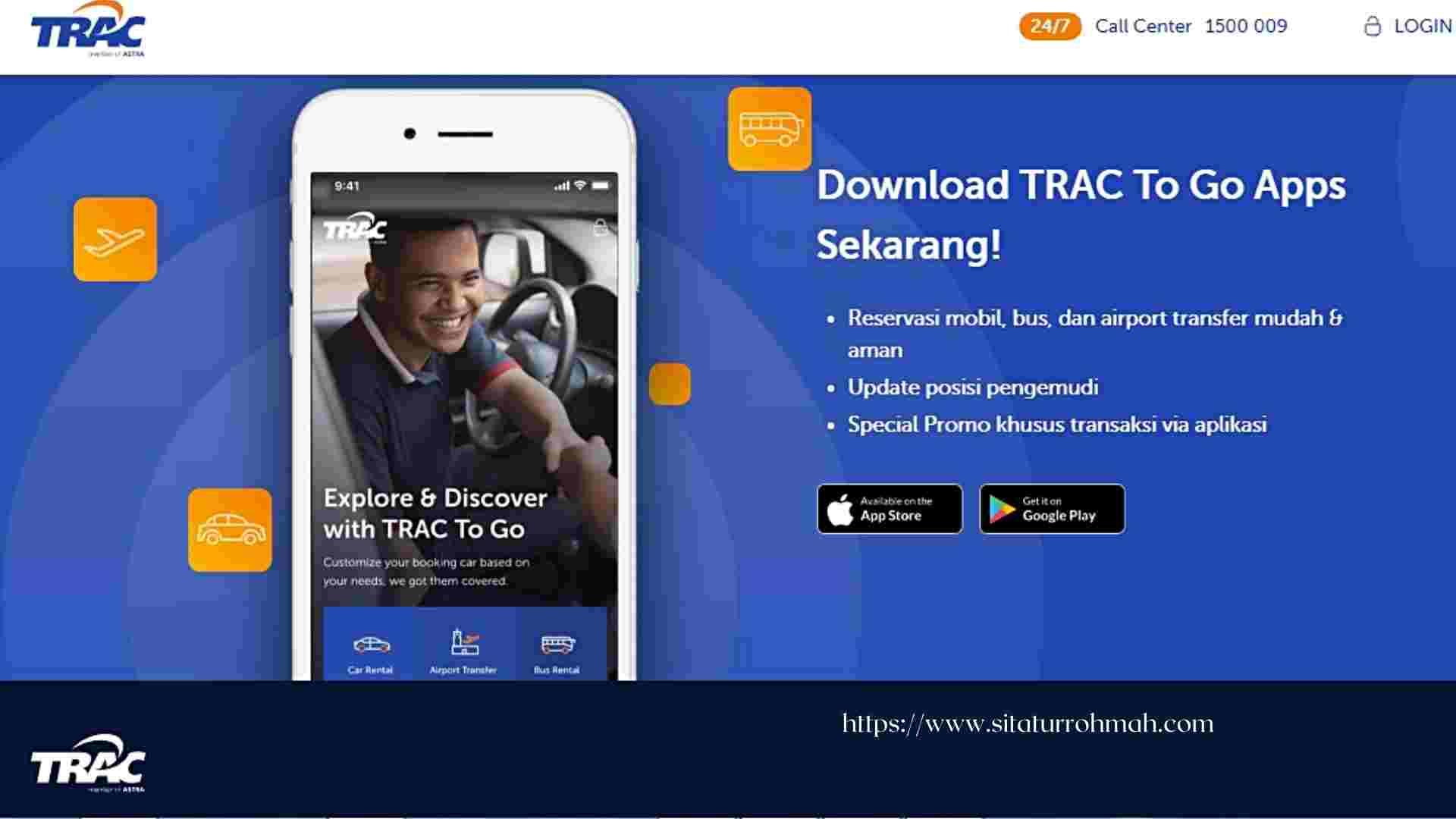 rental mobil perusahaan dengan Trac To Go