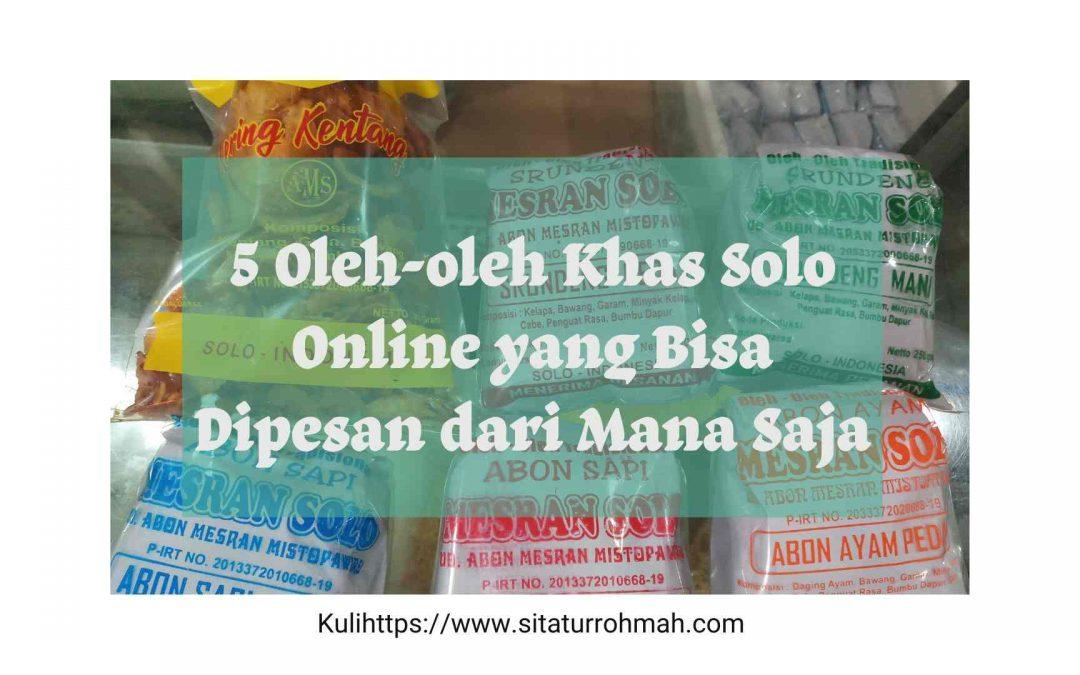 5 Oleh-oleh Khas Solo Online, Bisa Dipesan dari Rumah